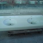Tampo de casa de banho em quartz Compac Vanille