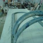 Moldura para fonte em mármore Azul Macaúbas