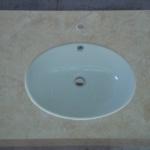 Tampo de casa de banho em mármore Lioz Amarelo