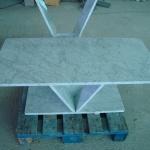 Mesa em mármore Carrara