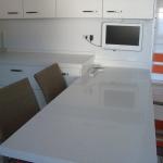 Cozinha em quartz Silestone Montblanc