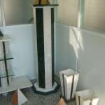 Coluna em mármore Emperador e Estremoz